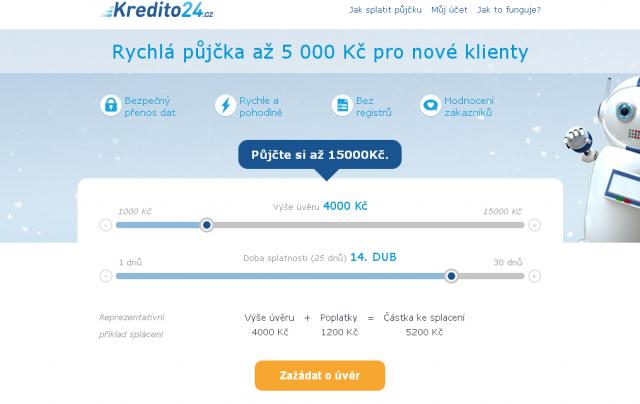 Kredito24 - rychlá půjčka po internetu