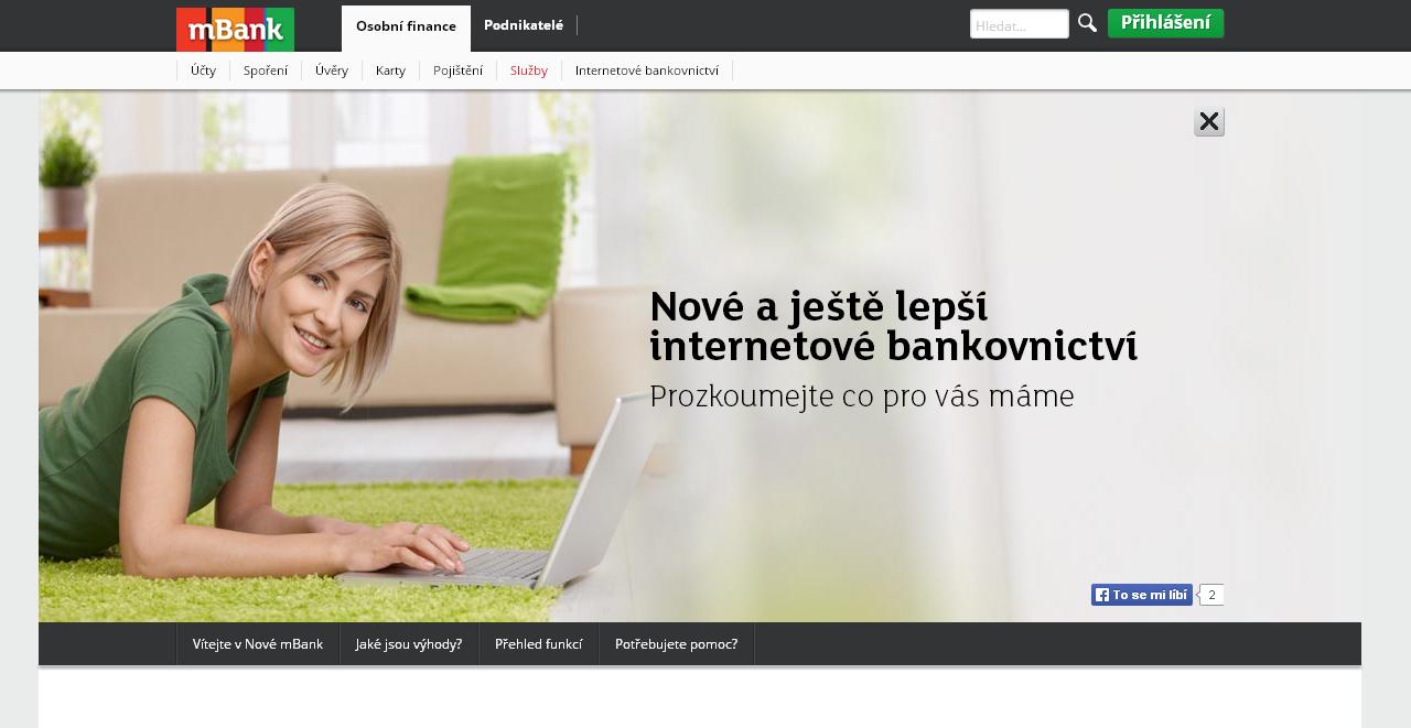 Jak používat mBank internetové bankovnictví